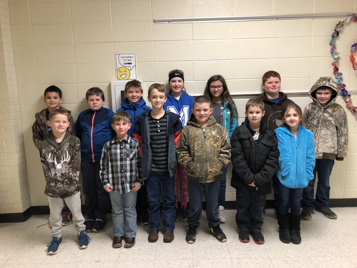 MCE Elementary Students of the Month~February 2019