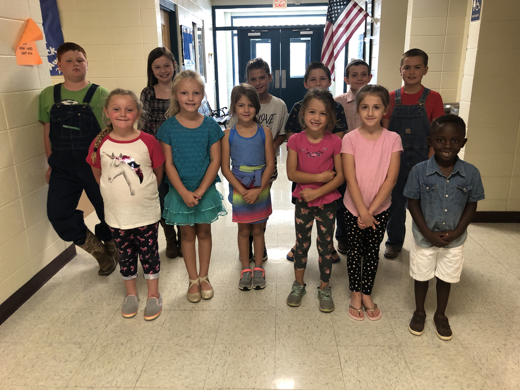 August 2019 Students of the Month