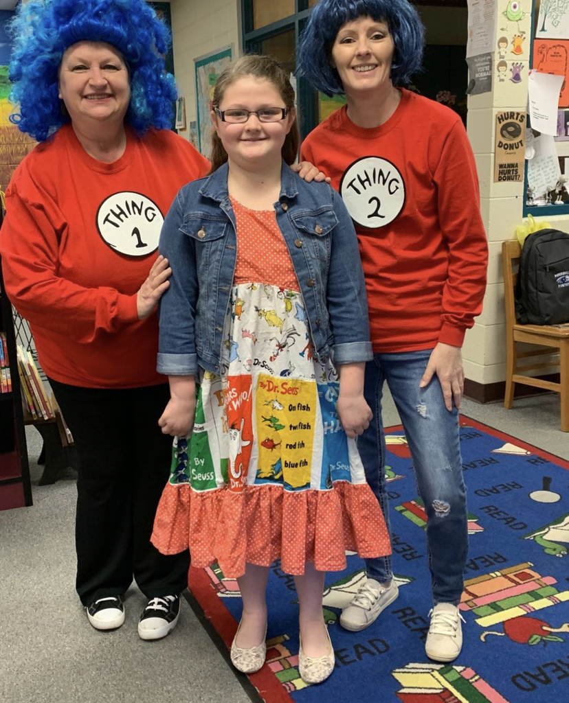 Thing 1 & Thing 2 & a Dr. Seuss dress