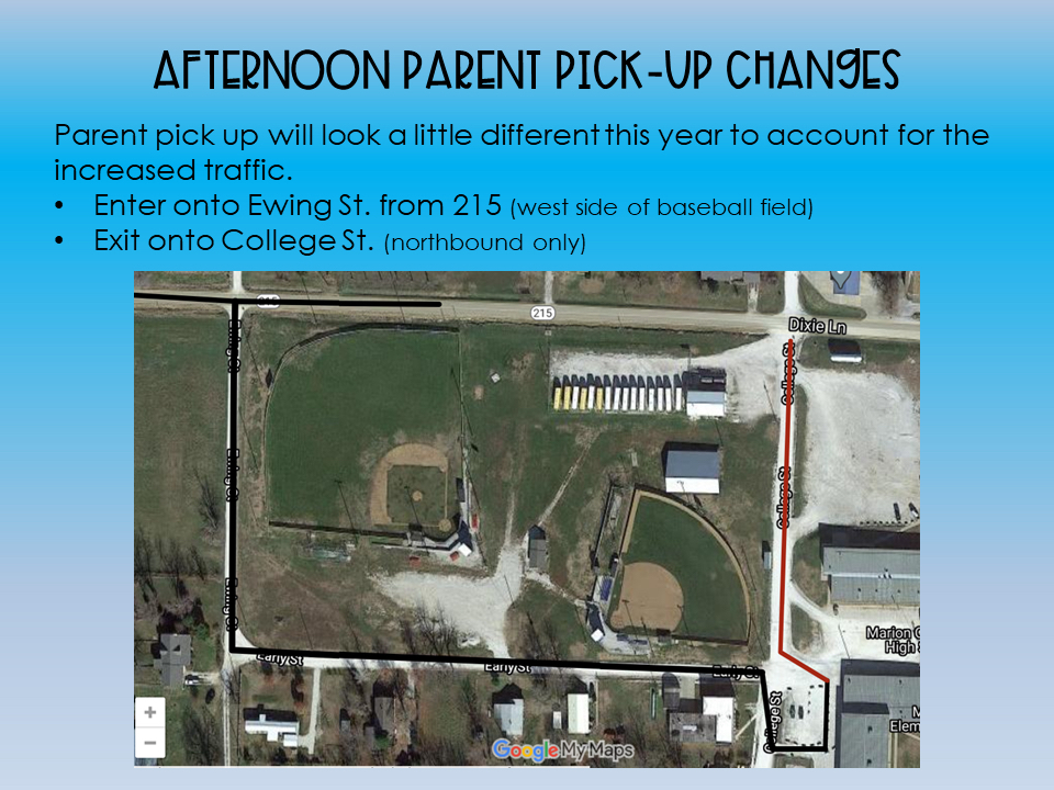 MCE Elementary Parent Pick-Up Plan